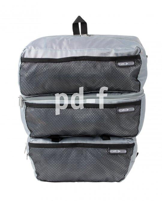 """Einsätze für Packtaschen schaffen Ordnung und Übersicht, vor allem auf Reisen. Taschenspezialist Ortlieb bietet seine """"Packing Cubes"""" im Dreier-Set an: zweimal sechs, einmal fünf Liter Stauraum."""