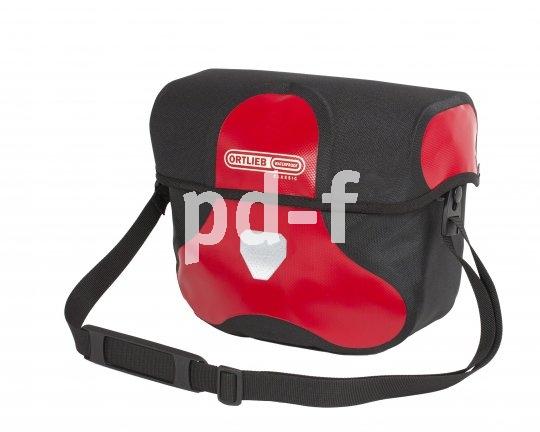 Klassische wasserdichte Lenkertaschen mit quasi-automatischem Magnetverschluss am Deckel und Trageriemen für die Nutzung als Handtasche bietet Taschenspezialist Ortlieb mit der Ultimate-Serie in verschiedenen Größen an.