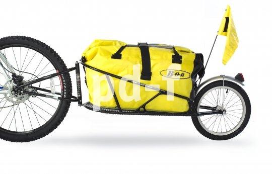 Radreisende aus aller Welt schwören auf den laufruhigen, belastbaren Einspur-Trailer.