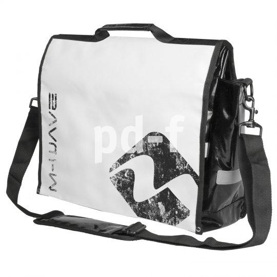 """Eine Umhängetasche, die während der Fahrt an den Gepäckträger geclippt werden kann, kommt vom M-Wave: Die """"Lockers Bay"""" bietet 25 Liter Stauvolumen in stylisher Verpackung."""