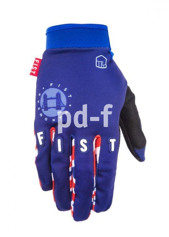 """Der """"TS100"""" von Fist ist ein Mountainbike- und Dirt-Handschuh. Dank Stretch-Material bietet er gute Passform und festen Sitz. Das Design stammt von Motocross-Legende Tommy Searle."""
