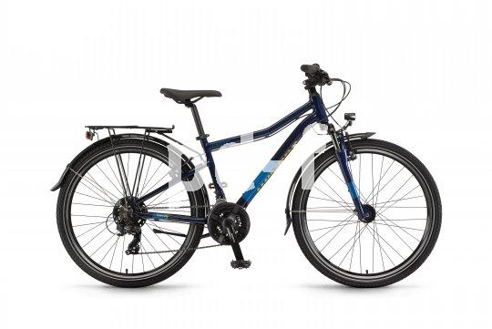 """Das """"Dash 26"""" von Winora ist ein richtiges Tourenrad für Jugendliche. Es bringt eine komplette Straßenausrüstung plus Gepäckträger mit, dazu 21 Gänge und eine Federgabel."""