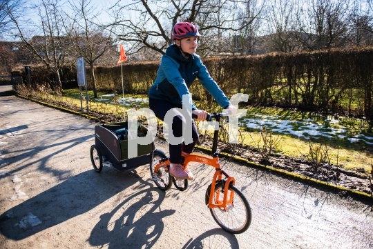 Auch Falträder können einen Anhänger ziehen! Eine kürzere Gabel macht die Sache noch einfacher.