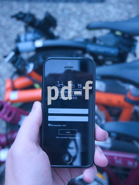 Mit der App von Brompton lassen sich Falträder einfach ausleihen. Das System funktioniert bislang aber nur in England.