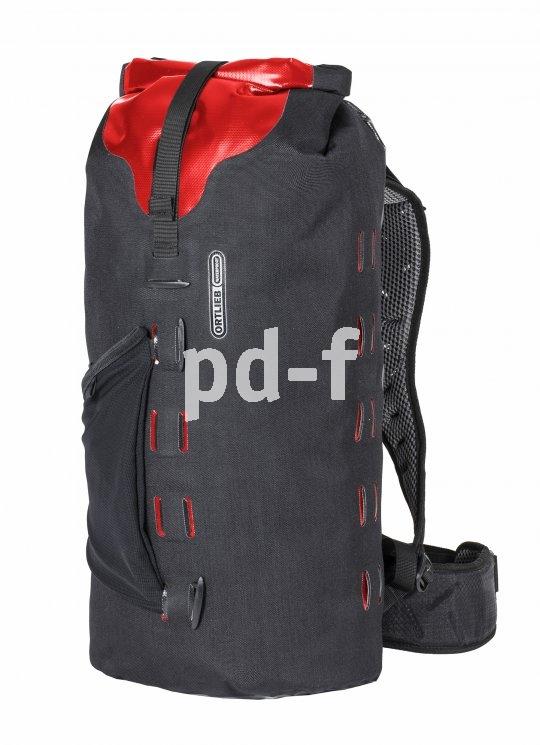 Wasserdicht und vielseitige einsetzbar sind Gearpacks wie dieser der Firma Ortlieb. Sie eignen sich sowohl als Rücksack wie auch als Packsack am Bike oder im Boot.