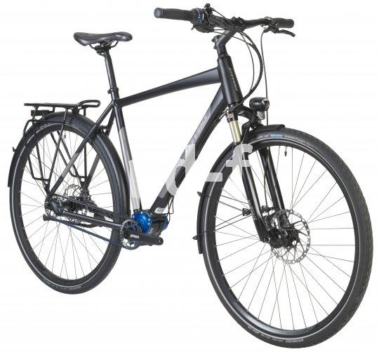 """Mit Tretlagergetriebe und Carbonriemen als Cityrad ganz im Trend liegt das """"P18"""" von Hersteller Stevens."""