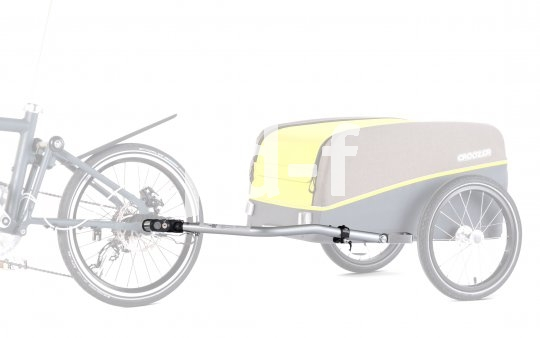 Speziell für Zugfahrräder mit kleinen Laufrädern bietet Anhängerspezialist Croozer eine kürzere Deichsel an. Damit ist das Gespann leichter zu manövrieren.