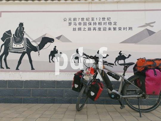 Ein Wandgemälde in der Provinz Gansu, das die Geschichte der Seidenstraße erzählt.