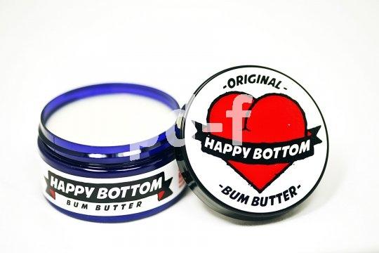 """Die """"Bum Butter"""" von Happy Bottom enthält u.a. Nelken- und Teebaumöl. Sie wird auf das Sitzpolster der Radhose aufgetragen und zieht schnell in die Haut ein."""