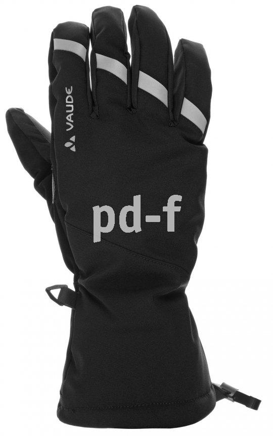 """Für den Wintereinsatz gedacht sind die """"Tura Gloves II"""" von Vaude. Sie sind wasserdicht und haben eine Prima-Loft-Isolierung, dazu einen Zeigefingereinsatz für die Bedienung von Touchscreens."""