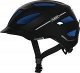 """Mit der zunehmenden Nutzung von Pedelecs und schnellen S-Pedelecs kommen entsprechend angepasste Helme auf den Markt. Hier der Abus Pedelec 2.0 in """"motion black""""."""