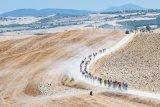 """Auf den berühmt-berüchtigten """"strade biancha"""", den staubigen, nicht asphaltierten Straßen der Toskana, finden Rennen statt, die der Traum vieler Gravel-Fans sind."""