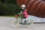"""Ein Cargobike für die Kleinsten: Das """"Steel Classic 16"""" von Puky ist mit Lenkerkörbchen und Gepäckgummi gut für erste Transportaufgaben vorbereitet."""