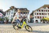 Mit einem Kompakt-Bike ist der städtische Raum perfekt zu erobern. Dieses Modell der Marke Flyer bietet einen gut integrierten Mittelmotor und einen wartungsarmen Riemenantrieb.