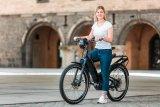 """Mit dem """"Homage"""" bietet Riese & Müller ein vollgefedertes, sportliches Tiefeinsteiger-E-Bike mit Vollfederung und ABS."""
