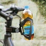 """Eine pfiffige Befestigungsmöglichkeit """"anywhere"""" am Fahrrad gibt es vom Hersteller SKS. Hier ist sie mit einem Flaschenhalter kombiniert."""