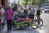 Lastenräder brauchen zum Parken etwas mehr Platz.