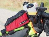 In einer kleinen Tasche am Rahmen können bei einer Tour Wertsachen verstaut werden.