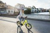 Kompakt-Bikes sind ideal für den städtischen Raum. Dieses Modell der Marke Flyer trumpft mit einem wartungsarmen Riemenantrieb auf.