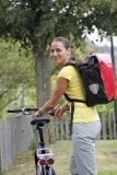 Ganz schön vielseitig, so eine Packtasche! Auch als Rucksack macht sie eine gute Figur.