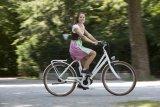 Retro-chic, aber mit moderner Technik: Ein E-Bike mit klassischem Schwanenhalsrahmen passt auch gut zum Dirndl.