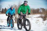 An Tagen wie diesen will das Fatbike aus dem Keller: Mehr Grip auf Schnee geht nicht.