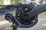 Ein 2017 neu vorgestellter Riemenspanner ermöglicht die Montage des wartungsarmen Carbonriemenantriebs auch an vollgefederten Fahrrädern (hier mit Zentralgetriebe).