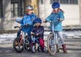 Für Kinder aller Größen findet sich mittlerweile das richtige Fahrzeug - vom Laufrädchen für erste Balancierversuche über sportliche Spielräder bis hin zum ersten Straßenrad für Schulanfänger.