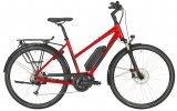 Erleichterter Einstieg, aufrechte Sitzposition, Gepäckträger und Schutzbleche: ein klares Citybike-Konzept, mit elektrischer Unterstützung.