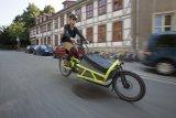 """Ein Lastenrad in der S-Pedelec-Version: das """"Load"""" von Riese & Müller."""