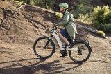 Moderne E-Bikes scheuen auch vor unbefestigten Wegen nicht zurück. Eine Federgabel und voluminöse Reifen helfen hier zusätzlich.
