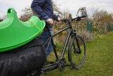 Ein großer Vorteil einspuriger Lastenräder ist das einfache Schieben des Fahrzeuges. Bei Dreirädern kann das problematischer sein.