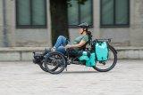 Liegeradspezialist HP Velotechnik bietet ausgefeilte Lösungen für den Gepäcktransport an seinen Trikes an. Packtaschen jeder Größe finden damit schwerpunktgünstig Platz hinter und unter dem Sitz.