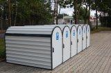 """Mit in Bahnhofsnähe platzierten Parkboxen kann Pendlern """"Bahn & Bike"""" schmackhaft gemacht werden, indem man ihnen die Angst vor Fahrradklau und Vandalismus nimmt."""