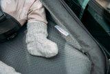 Dieser Babytransportsitz des Anhängerspezialisten Croozer besteht aus besonders hochwertigem Material.