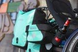 Am Heck eines Liegerad-Trikes ist viel Platz für Gepäck. Es stört dort nicht die Pedalierbewegungen und ebensowenig die Aerodynamik. Spezialist HP-Velotechnik bietet maßgeschneiderte Lösungen an.