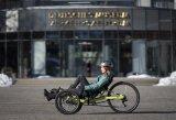 Liegedreiräder sind schnelle und bequeme Fahrzeuge mit hohem Nutz- wie Spaßfaktor. Der Spezialhersteller HP Velotechnik bringt mit dem Gekko 26 ein preisgünstiges Modell mit 26 Zoll-Hinterrad und zwei 20 Zoll-Vorderrädern auf den Markt.